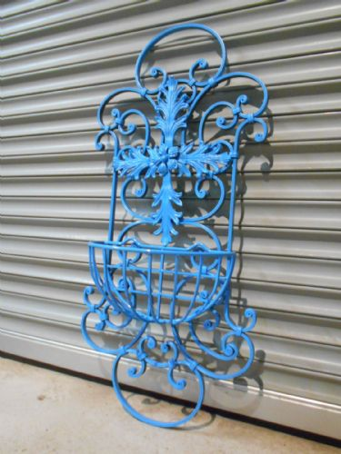 Large Ornate Wrought Iron Wall Planter